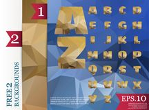 Low poly alphabet on polygon concept vector and backgrounds   Stock Photos