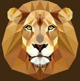 Low Poly Animal Face Lion stock illustration