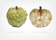 Low Poly Annona fruit. Vector illustration of a Annona fruit in low poly design Stock Photo