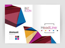 Low poly annual report. Template Stock Image