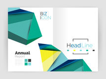 Low poly annual report Stock Photo