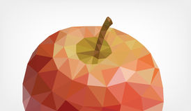 Low Poly Apple. Vector illustration of a Apple in low poly design Stock Images