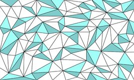 Low Poly Art Outlined Vector Graphic Background. Design Royalty Free Stock Image
