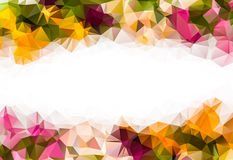 Low poly autumn tree leaf and bokeh background. With space for your text Stock Images