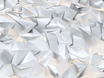 Low poly background. Abstract white low poly background Royalty Free Stock Photos