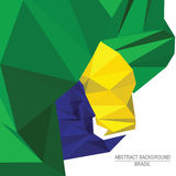 Low poly background. Brasil. Low poly background in colors of brazilian flag Stock Image
