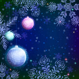 Low Poly Background with Christmas Balls Royalty Free Stock Image