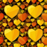 Low Poly Background with Hearts Royalty Free Stock Images