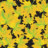 Low-poly background polygonal pattern autumn maple leaves seamle. Ss texture Royalty Free Illustration