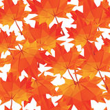 Low-poly background polygonal pattern autumn maple leaves seamle. Ss texture Vector Illustration