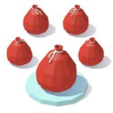 Low poly bag of gifts Royalty Free Stock Image