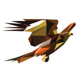 Low poly bird  Royalty Free Stock Photography