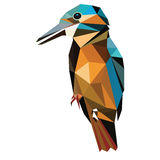 Low poly bird  Royalty Free Stock Photos