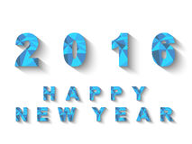 2016 LOW POLY BLUE HAPPY NEW YEAR Royalty Free Stock Image