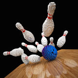 Low poly bowling Stock Photo