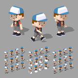 Low poly boy Stock Image