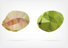 Low Poly Breadfruit fruit. Vector illustration of Breadfruit fruit in low poly design Stock Images