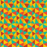 Low poly bright mosaic pattern. Seamless vector background royalty free illustration