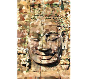 Low Poly Buddha Face Stock Photography