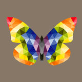 The Low poly butterfly, vector design Royalty Free Stock Images