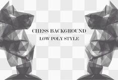 Low poly chess background Royalty Free Stock Photography