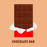 Low poly chocolate bar Stock Photography