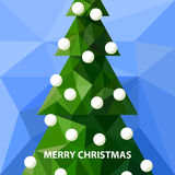 Low poly christmas tree Royalty Free Stock Image