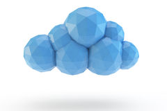 Low poly cloud Royalty Free Stock Image