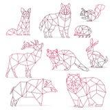 Wolf Low Poly Design Geometric, Vector Animal Illustration