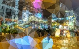 Low poly color wall Stock Images