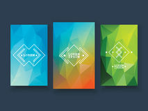 Low poly colorful background set with abstract Royalty Free Stock Photos