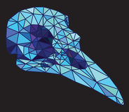 Low-poly colorful geometric bird skull art Stock Image