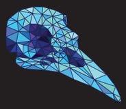 Low-poly colorful geometric bird skull art Stock Image
