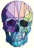 Low-poly colorful geometric skull art. Vector vector illustration