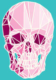 Low-poly colorful geometric skull art Royalty Free Stock Photos