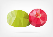 Low Poly cranberry. Vector illustration of cranberry in low poly design Stock Images