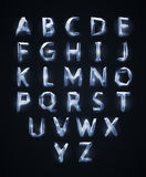 Low poly cristal alphabet font Stock Images