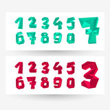 Low poly crystal numbers Stock Photo