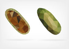 Low Poly Curuba fruit. Vector illustration of curuba fruit in low poly design Royalty Free Stock Photography