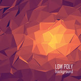 Low poly 3d abstract vector background. Bright Stock Photography