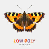 Low poly design of butterfly Royalty Free Stock Photography
