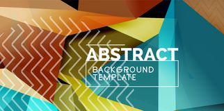 Low poly design 3d triangular shape background, mosaic abstract design template. Vector illustration stock illustration