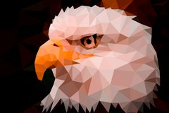 Low poly design. Eagle triangles low poly art vector royalty free illustration