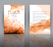 Low poly design for flyer template Stock Photo