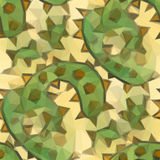 Low poly design triangular green yellow spines Royalty Free Stock Image