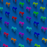 Low poly Dogs illustration pattern. Colorful low-poly abstract dogs illustration pattern Royalty Free Stock Photography