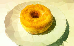 Low poly donut wallpaper Royalty Free Stock Photography