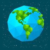 Low poly Earth Royalty Free Stock Photography