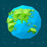 Low poly Earth Stock Photo
