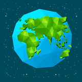 Low poly Earth Royalty Free Stock Photo